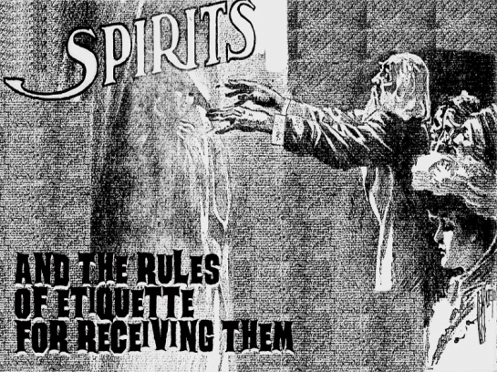 rules of etiquette for addressing a ghost